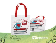 Eco-Bolsa Standar 40x40x10 mm. - Love Books